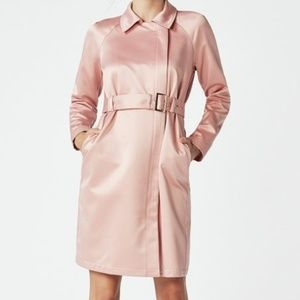 Just Fab Pink Champagne Trench size 22
